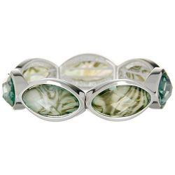 Gloria Vanderbilt Abalone Marquis Strech Bracelet