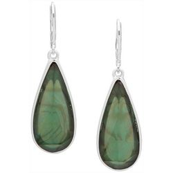 Gloria Vanderbilt Green Multi-Faceted Leverback Earrings
