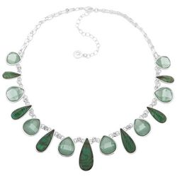 Gloria Vanderbilt Green Multi Teardrop Necklace