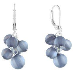 Gloria Vanderbilt Grey Bead Cluster Earrings