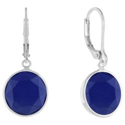 Gloria Vanderbilt Blue Multi-Faceted Stone Earrings