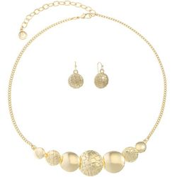 Gloria Vanderbilt Gold Beaded Necklace Set