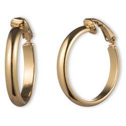 Gloria Vanderbilt Gold Tone Hoop Clip Earrings