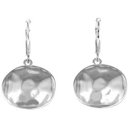 Gloria Vanderbilt Hammered Disc Earrings