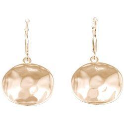 Gloria Vanderbilt Hammered Disc Drop Earrings