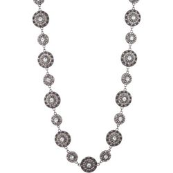 Gloria Vanderbilt Rhinestone Disc Collar Necklace