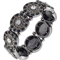 Gloria Vanderbilt Rhinestone Disc Stretch Bracelet