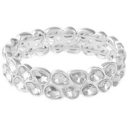 Gloria Vanderbilt Glass Teardrop Stretch Bracelet