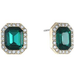 Gloria Vanderbilt Emerald Halo Stud Earrings