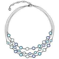 Gloria Vanderbilt Aqua Blue Multi-Faceted Stone Necklace