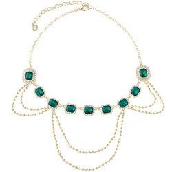 Gloria Vanderbilt Emerald Rhinestone Necklace