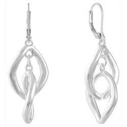 Gloria Vanderbilt Silver Tone Interlink Earrings