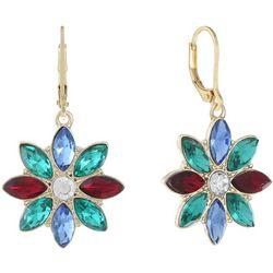 Gloria Vanderbilt Multi Rhinestone Drop Earrings