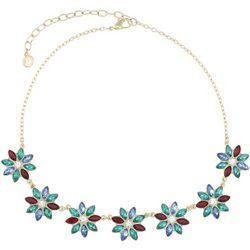 Gloria Vanderbilt Multi Flower Frontal Necklace