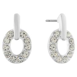 Gloria Vanderbilt Rhinestones Ring Post Top Earrings
