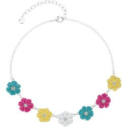 Gloria Vanderbilt Colorful Flowers Necklace
