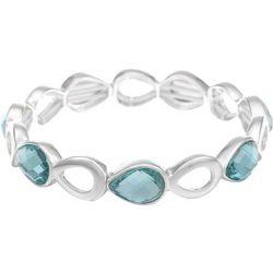Gloria Vanderbilt Blue & Silver Tone Teardrop Bracelet