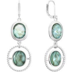 Gloria Vanderbilt Double Oval Drop Earrings