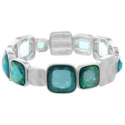 Gloria Vanderbilt Faux Opal & Silver Tone Square Bracelet