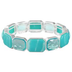 Gloria Vanderbilt Turquoise Blue Rectangle Link Bracelet