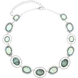 Gloria Vanderbilt Oval Stones Abalone Shell Necklace