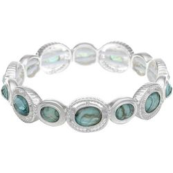 Gloria Vanderbilt Abalone Shells & Faux Stones Bracelet