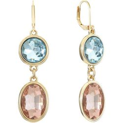 Gloria Vanderbilt Double Drop Gold Tone Earrings