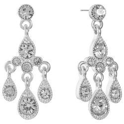 Gloria Vanderbilt Clear Teardrop Chandelier Earrings