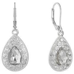 Gloria Vanderbilt Rhinestone Teardrop Earrings