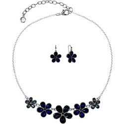 Gloria Vanderbilt Flower Necklace Set