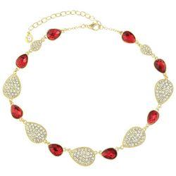 Gloria Vanderbilt Gold Tone Siam Rhinestone Collar Necklace