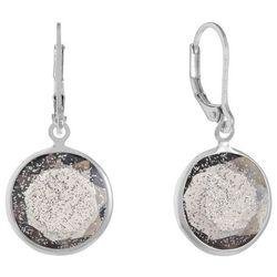 Gloria Vanderbilt Silver Tone Sparkle Drop Earrings