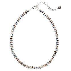 Gloria Vanderbilt Multi Stone Silver Tone Lantern Necklace
