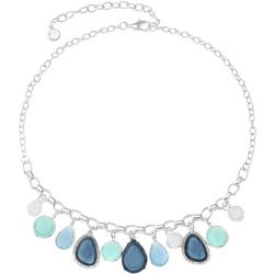 Gloria Vanderbilt Blue Multi-Faceted Stone Necklace
