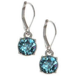 Gloria Vanderbilt Aqua Crystal Elements Earrings