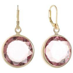 Gloria Vanderbilt Multi-Faceted Stone Gold Tone Earrings