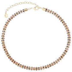 Gloria Vanderbilt Gold Tone Red Multi Stone Mesh Necklace