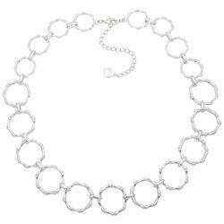 Gloria Vanderbilt Silver Tone Linked Circle Collar Necklace