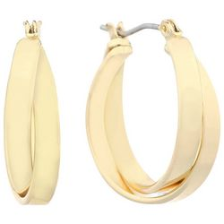 Gloria Vanderbilt Gold Tone 25mm Hoop Earrings