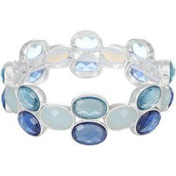 Gloria Vanderbilt Blue Multi-Faceted Stretch Bracelet
