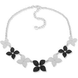 Gloria Vanderbilt Black & White Flower Necklace