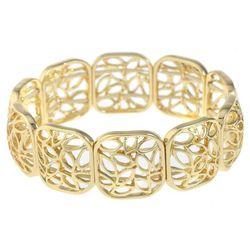Gloria Vanderbilt Cutout Square Link Stretch Bracelet