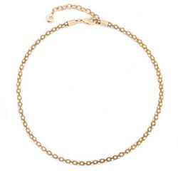Gloria Vanderbilt Clear Rhinestone Chain Necklace