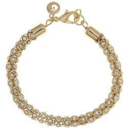 Gloria Vanderbilt Gold Tone Mesh Chain Bracelet