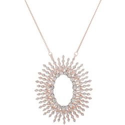 You're Invited Rose Gold Starburst Crystal Necklac