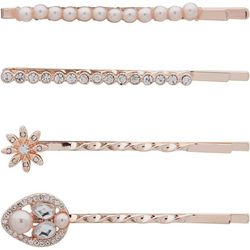 You're Invited 4-pc. Silver Tone Rhinestone Hair Clips
