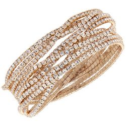 You're Invited 9-pc. Gold Tone Rhinestone Bracelet Set