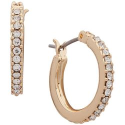 You're Invited 17mm Rhinestone Hoop Earrings