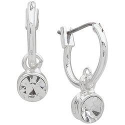 You're Invited Small Hoop Crystal Drop Earrings