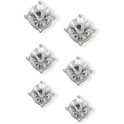You're Invited Silver Tone Rhinestone Stud Earring Set